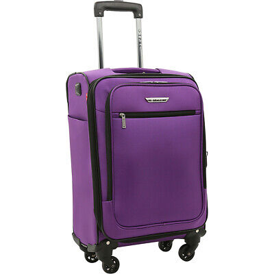 """Travelers Club Luggage Sabre 20"""" Embedded USB Port Softside Carry-On NEW"""