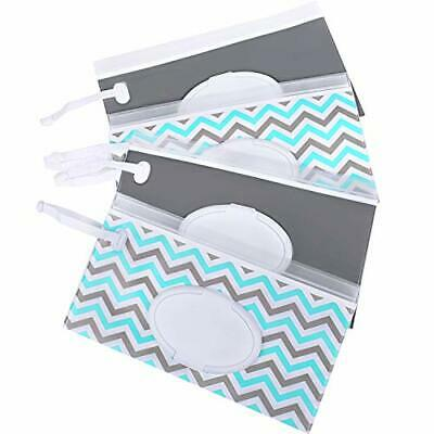 Venhoo Wet Wipe Pouch 4-Pack Reusable Refillable Clutch Wipes Dispenser Holder