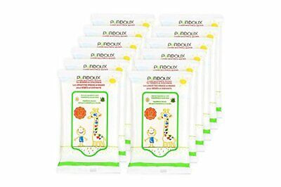 Hand and Face Wet Wipes for Babies and Children, 120 wipes (12 resealable