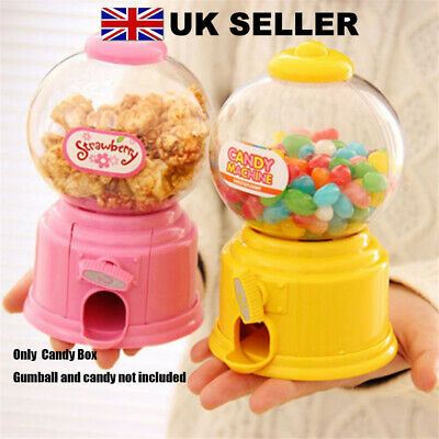 Mini Machine Sweets Cans Candy Gumball Dispenser Money Boxes Saving Coin Bank