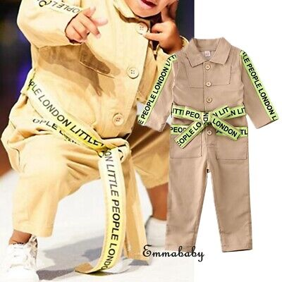 UK Kids Childrens Boilersuit Overall Coverall Girls Boys jumpsuit 5 Sizes NEW