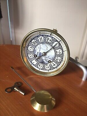 Antique Dent Blue White Ceramic Face And Clock Movement With Bell Etc Spares Rep
