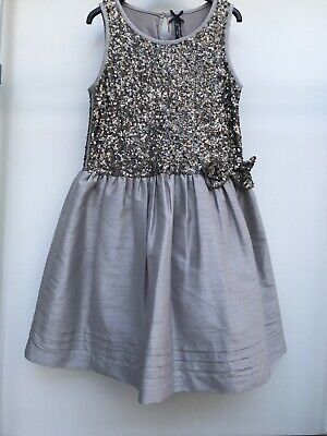 Girls Party Dress New With Tags Next Age 11 Signature Grey Silver Sequins
