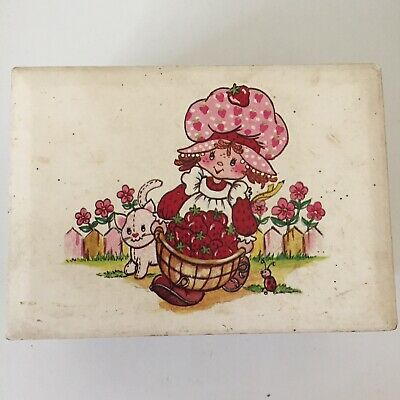 Rare Vintage Strawberry Shortcake Music Jewelry Box Plays Croner Toys