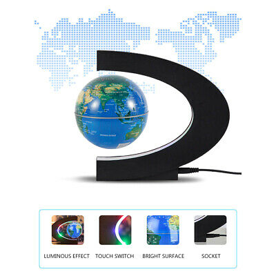 Magnetic Floating Globe World Map Anti Gravity Levitation with LED Light UK Plug
