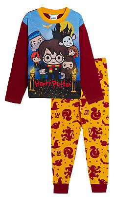 Harry Potter Pyjamas Kids Full Length Pjs Set Boys Girls Hogwarts Character Gift