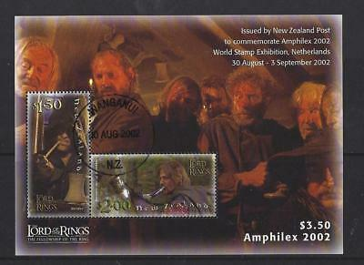 New Zealand 2002 Amphilex, Lord Of The Rings Miniature Sheet Fine Used