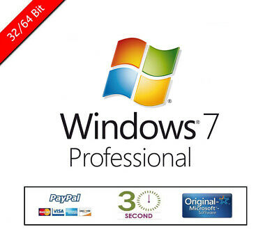 Windows 7 Pro Professional Licence OEM - Key Activation Code 32/64bit