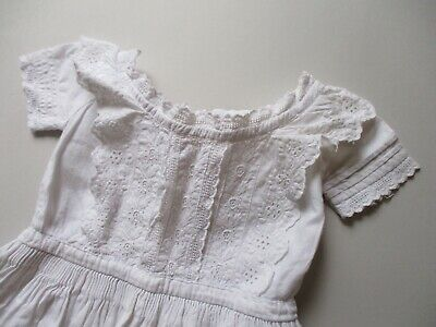 Antique 19th Century beautiful hand embroidered Christening gown