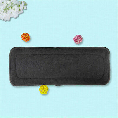 Newborn Diaper Baby Bamboo Charcoal Inserts Nappy Washable Cloth 5 Layers Diaper