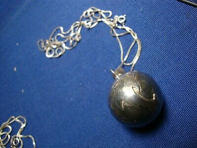 Grandmas Estate 925 Sterling Silver Bell Big Chunky Necklace