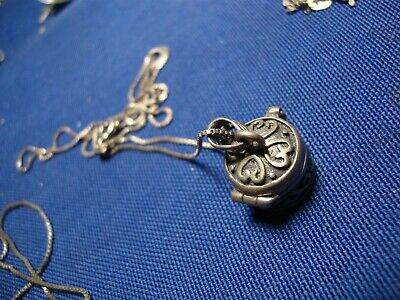 Grandmas Estate 925 Sterling Silver Poison Box Necklace