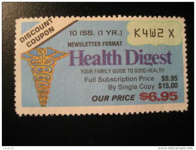HEALTH Digest Care Medicine Sante Review News Magazine Coupon Discount Poster St