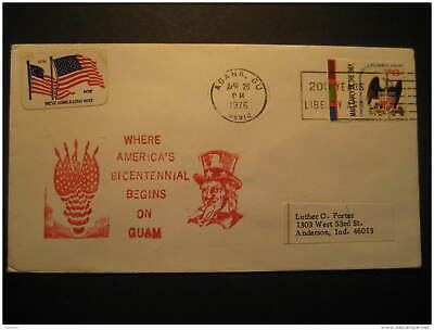 Agana GUAM 1976 To Anderson Cancel Cover USA