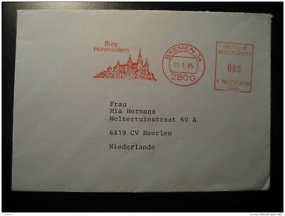 HOHENZOLLERN Castle Chateau BREMEN 1985 Meter Mail Cancel Cover GERMANY