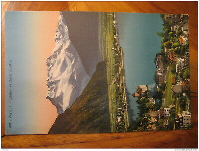 VEYTAUX Chillon Castle Et Dents Du Midi Post Card VAUD Switzerland