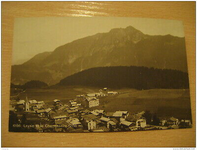 LEYSIN Et Le Chamossaire Mountain Mountains Post Card VAUD Switzerland