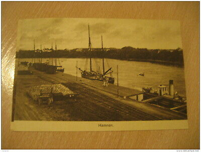 HAMNEN River Ship Boat Harbour Post Card SWEDEN