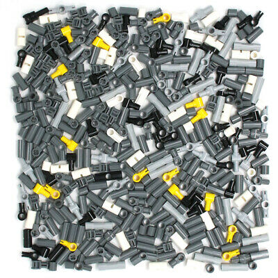 Lego 380x Genuine Technic Connectors Joints Couplers Black White Grey Yellow NEW