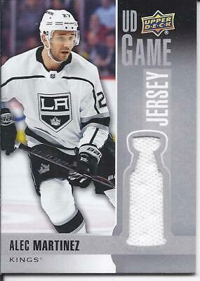 Alec Martinez 2019-20 Upper Deck Series 1 UD Game Jersey Card GJ-MA