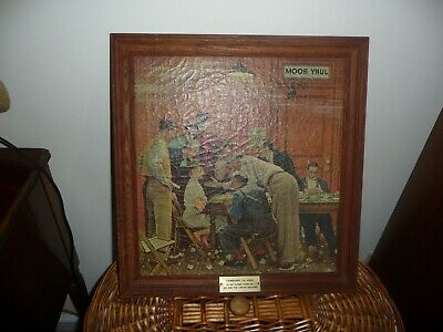 """Norman Rockwell courtroom print /""""THE HOLDOUT/"""" 11x15/"""" trial Lawyer /""""JURY ROOM/"""""""