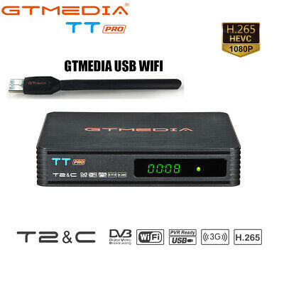 TT PRO DVB-T2/C 2 digital receiver H.265 1080P HD Gtmedia Satellite Receiver FTA