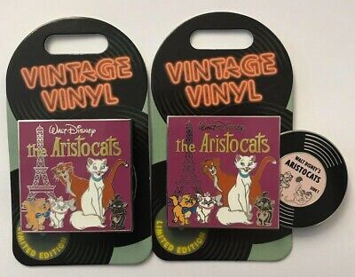 Disney Parks Disneyland 2019 Aristocats Vintage Vinyl Record LE Pin of Month
