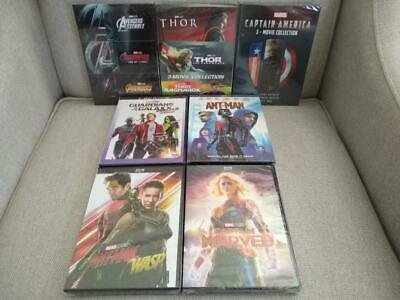 14 Marvel Movie DVD Collection: Avengers Captain America Thor Guardians Ant-Man