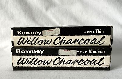 2 Boxes Rowney WILLOW CHARCOAL - Thin, Medium + A Small Mix of Other Thickness