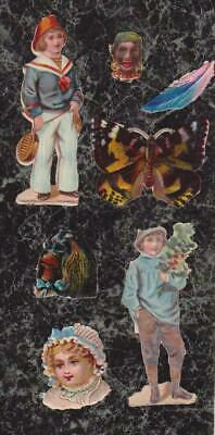 Lot 7 Victorian Die Cut Scraps All Small to Tiny Sized