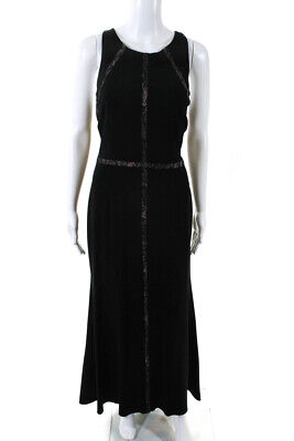 Adrianna Papell  Womens Lace Insert Gown Black Size 12 10882701