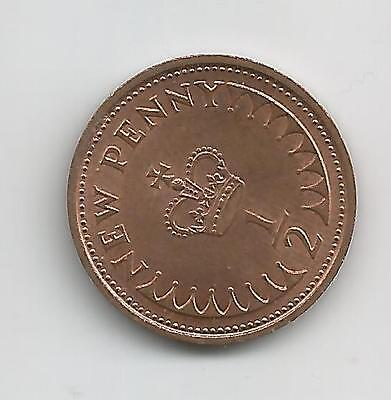 Gb Qeii Half New Penny Coin 1971