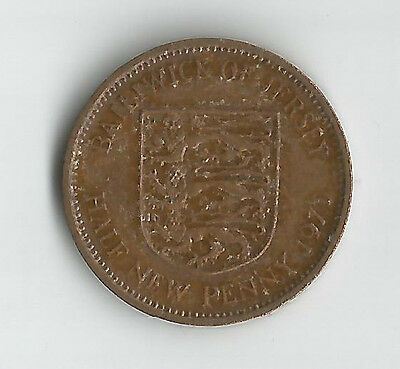Baliwick Of Jersey Qeii Half New Penny Coin 1971