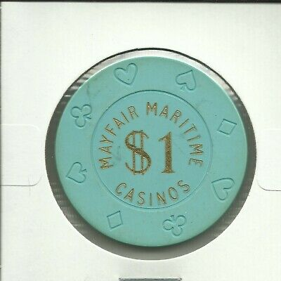 $1 Mayfair Maritime   Cruise Lines Chip