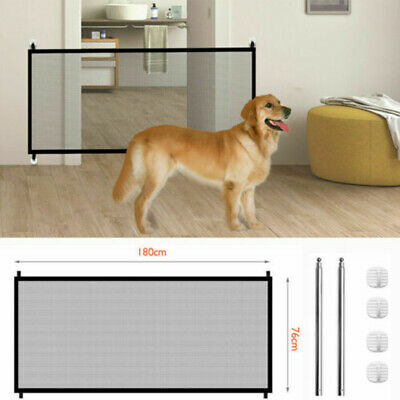Baby Kids Home Stair Safety Guard Dog Gate Pet Portable Folding Safe Net