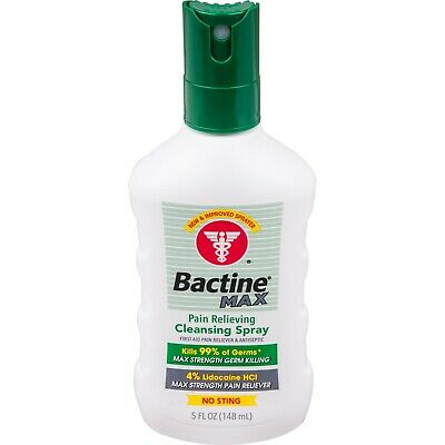 Bactine Max Pain Relieving Cleansing Spray First Aid 5oz