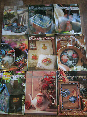 LOT OF 9 THE DECORATIVE PAINTER Tole Painting Magazine Issues 1994-2004