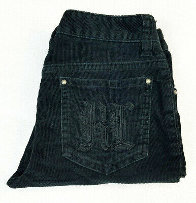 RALPH LAUREN Girls Black Corduroy Casual Fashion Jeans - Size 8 - VGC