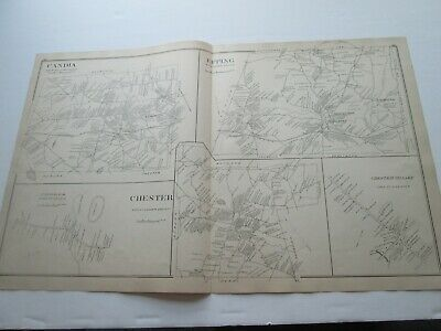 1892 New Hampshire Antique Map, Candia, Epping, Chester, Freemont, Deerfield