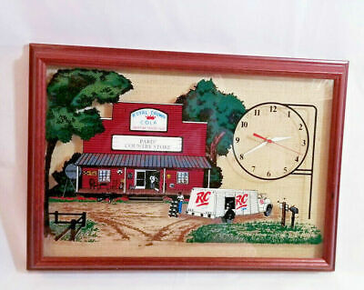 """20"""" Royal Crown Cola Glass Framed Paris Country Store Hanover Wall CLOCK picture"""
