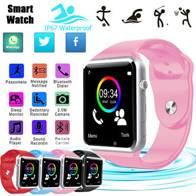 Smart Watch Sports Bluetooth Waterproof Camera GSM SIM For Android IOS Xmas Gift