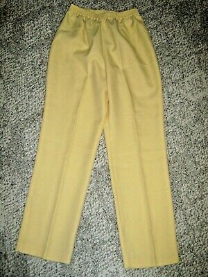 BLAIR Butter Yellow Elastic Stretch Waist No Pocket 100% Polyester Pants 12P