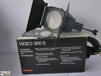 Video Light Halogen 300W with Accessory Shoe Also for DSLR Camera+System Camera