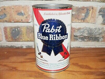 Large Vintage Pabst Blue Ribbon Beer Can Coin Bank~60's Era~J.L. Clark Mfg. Co.