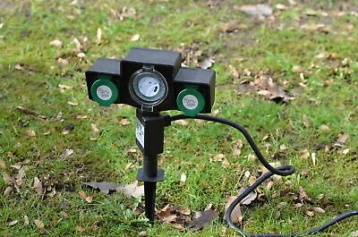 Socket with Timer Switch 24h Garden Outlet Spike Ideal for Garden