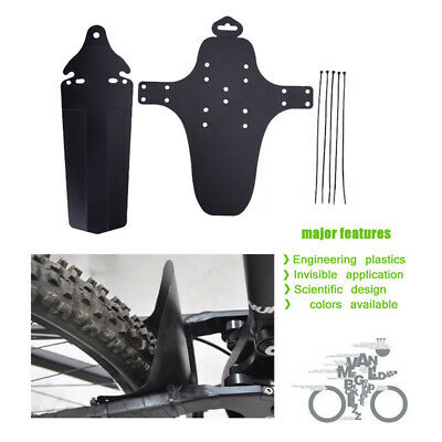 Black Zefal Deflector Light MTB Bike Front or Rear Mudguard Fender Mud Guard