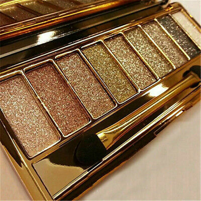 9 Colors Beauty Shimmer Eyeshadow Set Eye Shadow Palette & Makeup Cosmetic Brush