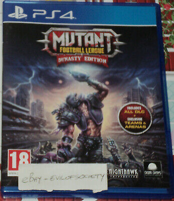 mutant football league, dynasty edition, sports, playstation 4, ps4 game, vgc