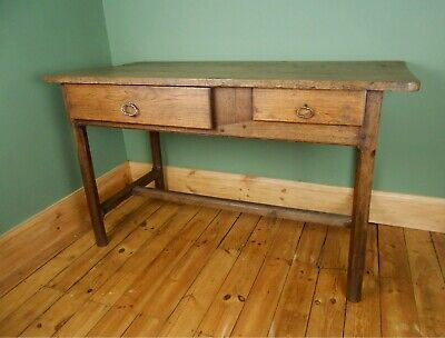 Antique Georgian 18thc French Oak Kitchen Refectory Dining Scullery Table