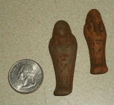 99Cent NR Shabti Egyptian Amulet BC Ancient Faience Ushabti From Egypt w Glyphs